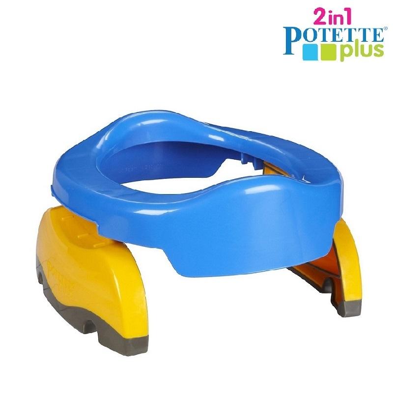 Rejsepotte og toiletsæde til børn Potette Plus blå