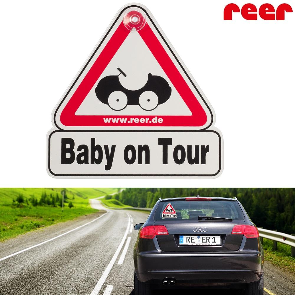 Børn i bilen skilt Reer Baby on Tour