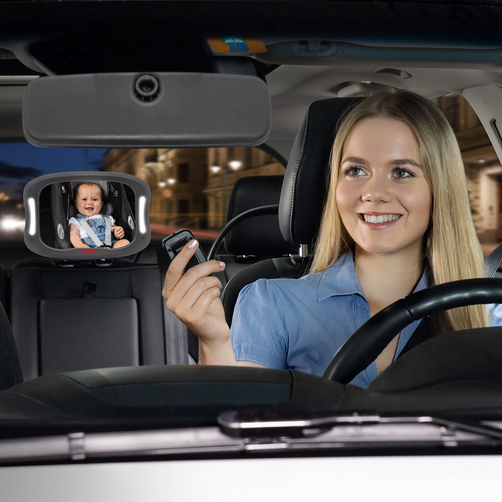 Bagsædespejle og babyspejle til bilen Reer BabyView LED