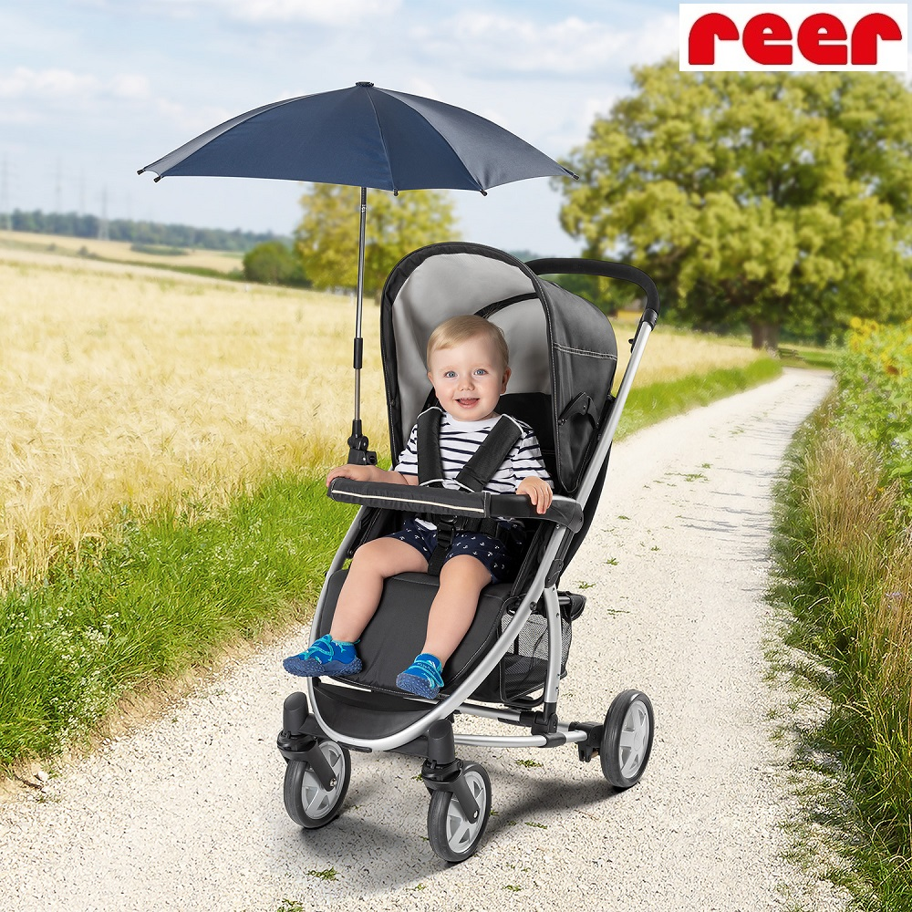 Parasol til barnevogn Reer ShineSafe Marine blå
