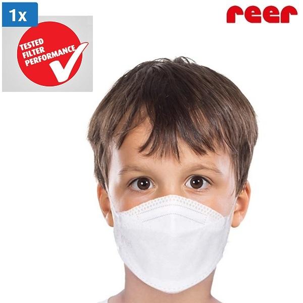 Mundbind til børn Reer hvid