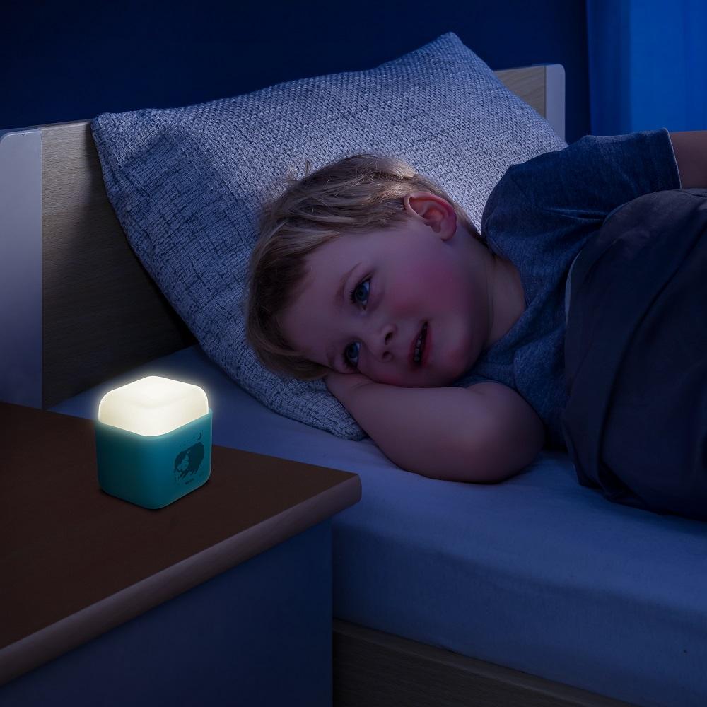 Natlampe til børn Reer Sleeplight 2in1 lyseblå