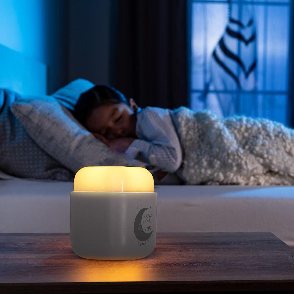 Natlampe til børn Reer Sleeplight 2in1 lysegrå