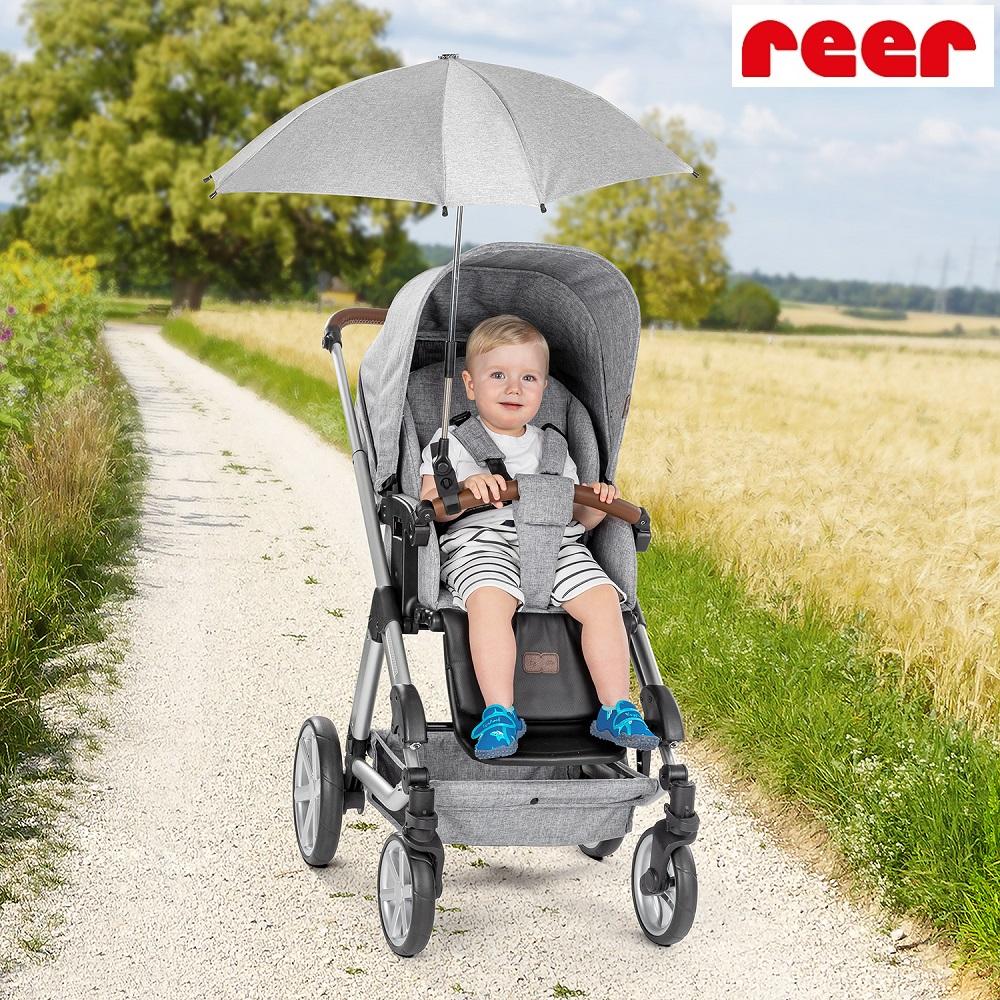 Parasol till barnevogn Reer grå