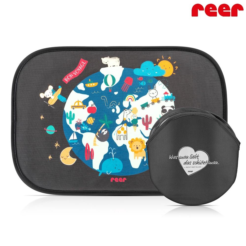 Solskærm til bil Reer Pop-up World Map