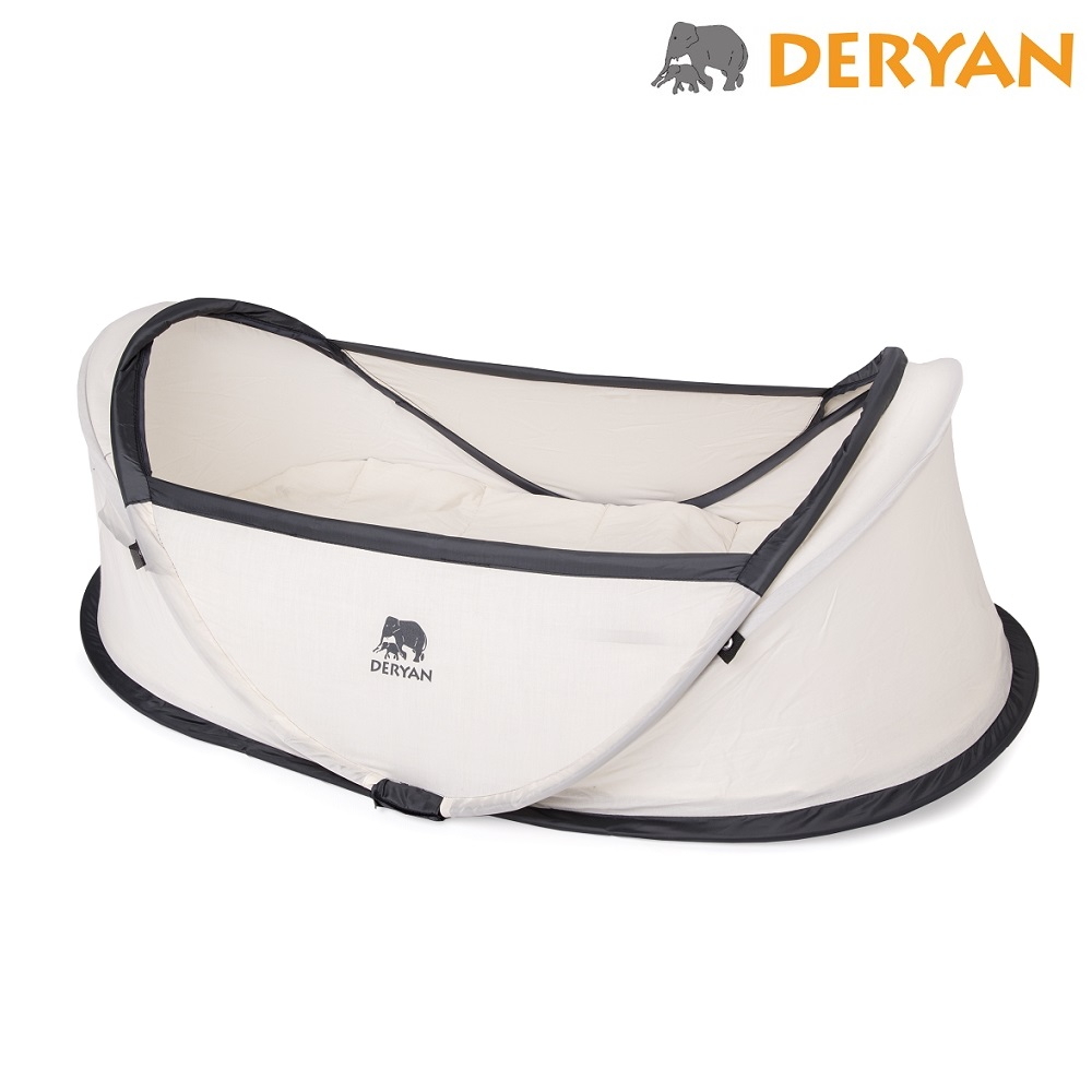 Pop-up rejseseng Deryan Baby Box Cream