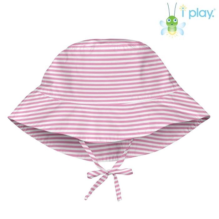 Uv solhat til børn Iplay Navy Pinstripe lyserød