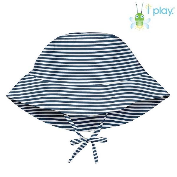 Uv solhat til børn Iplay Navy Pinstripe blå
