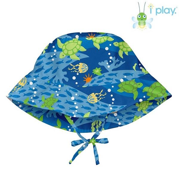 Uv solhat til børn Iplay Turtlel Blue blå