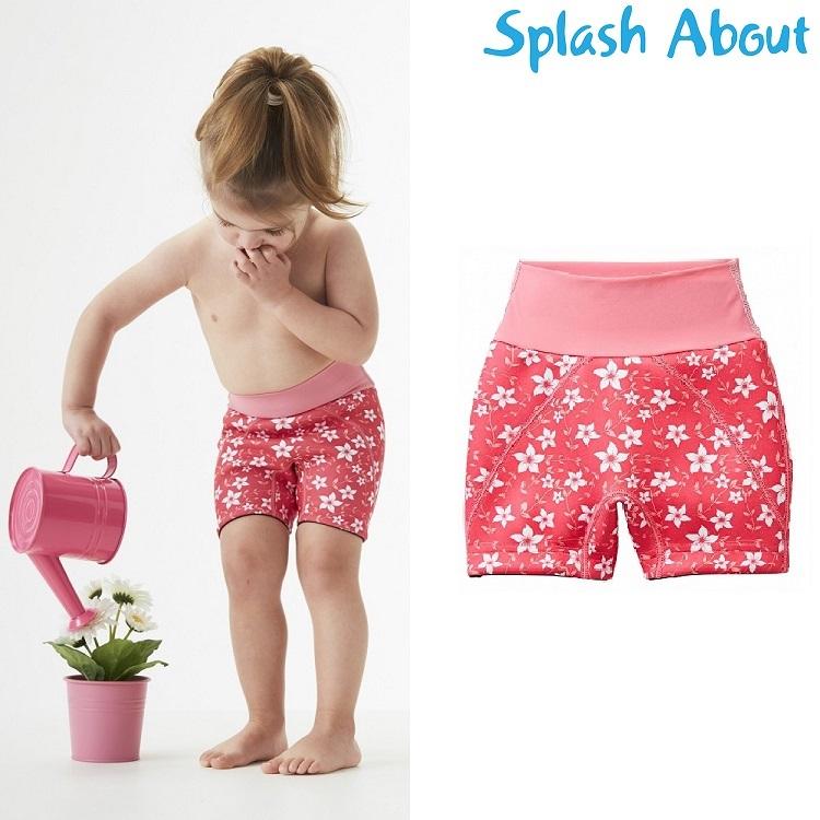 Blebadebukser til børn SplashAbout Splash Jammers Pink Blossom