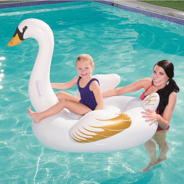 Oppustelig legetøj til pool Bestway svane XL