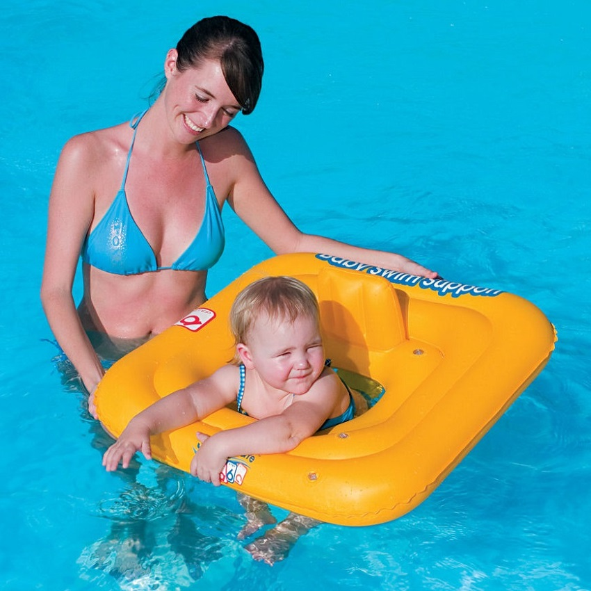 Badstol Bestway Swim Safe 1-2 år gul