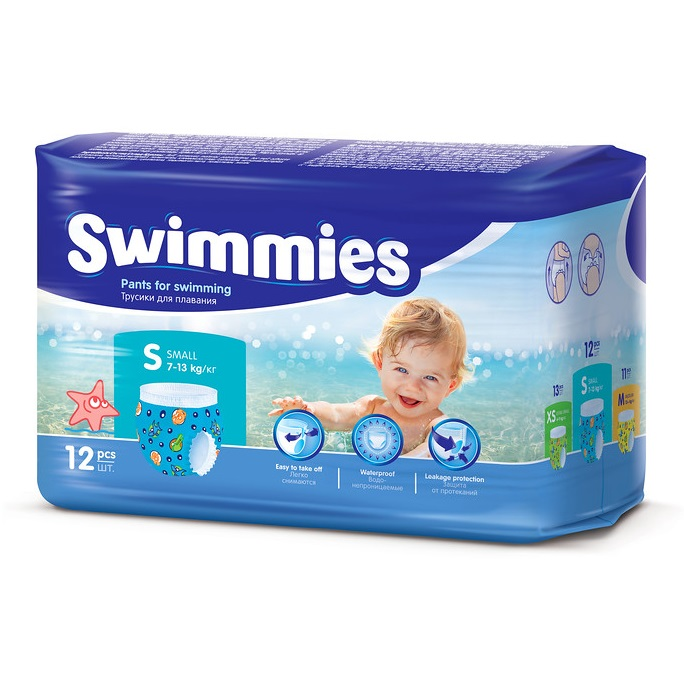 Engångsbadblöja Swimmies 7-13 kg