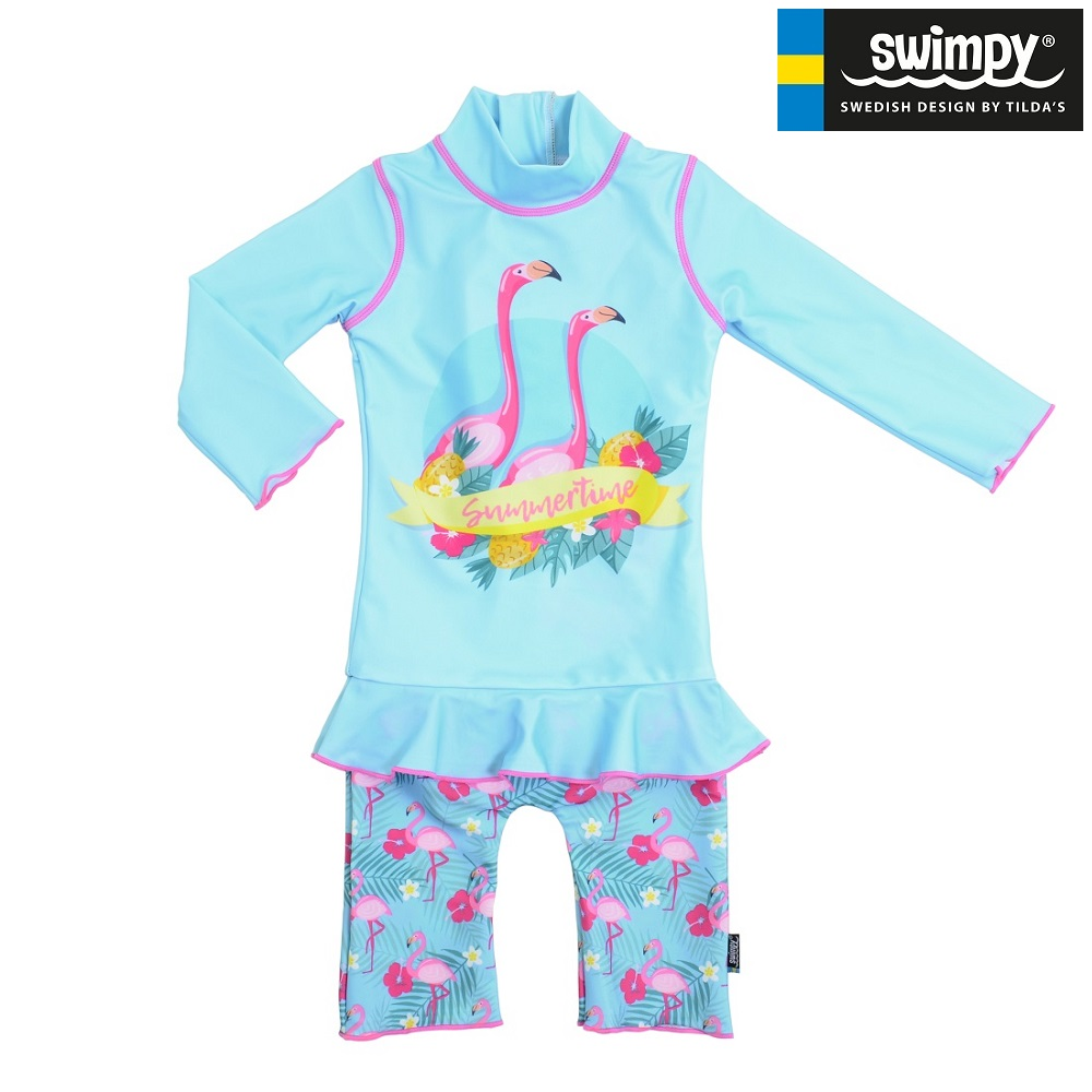UV-dragt til børn Swimpy Flamingo