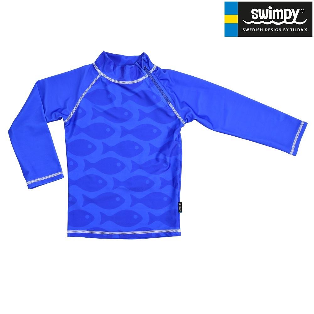 UV-trøje til børn Swimpy Solid Fish Blue