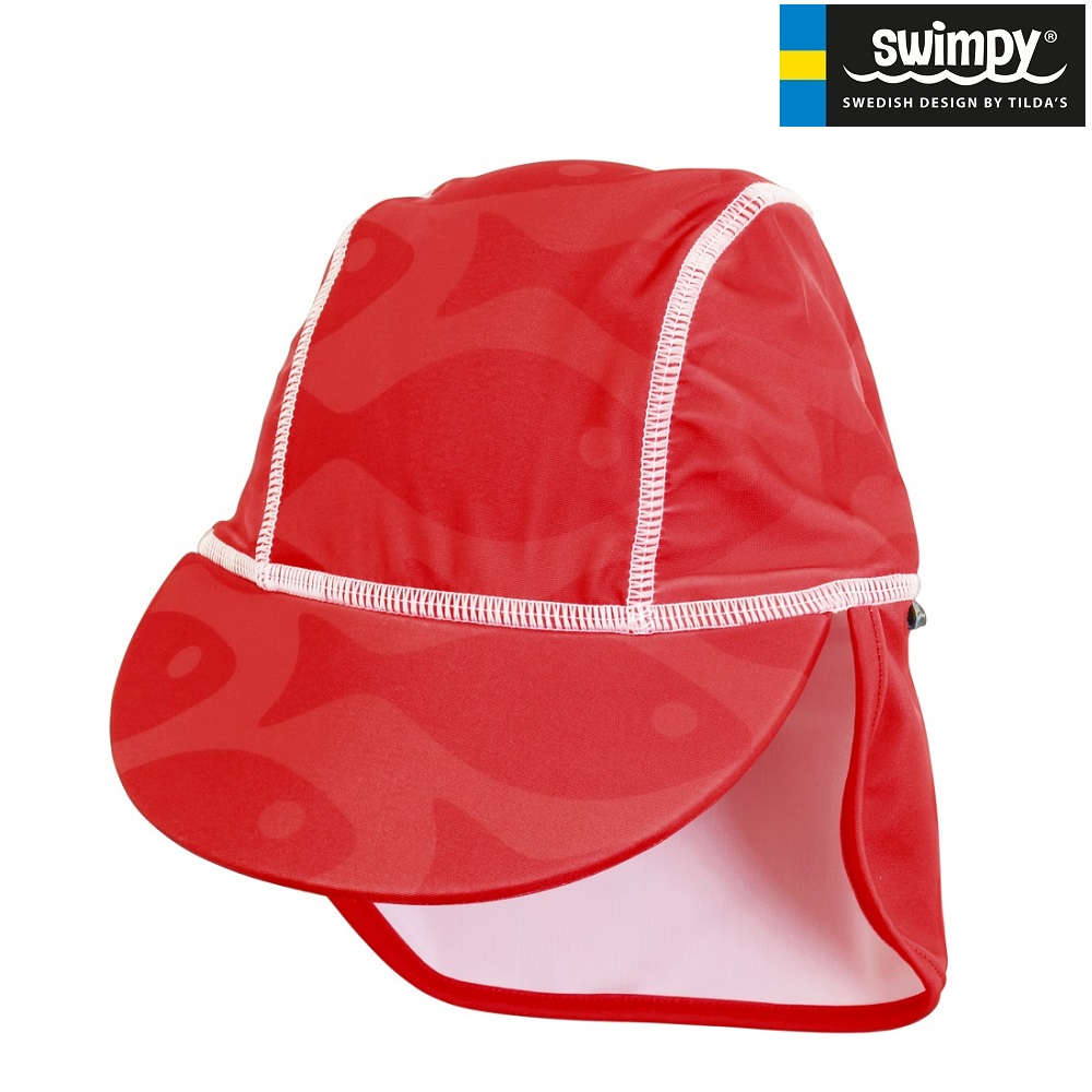 UV solhat børn Swimpy Solid Fish Red
