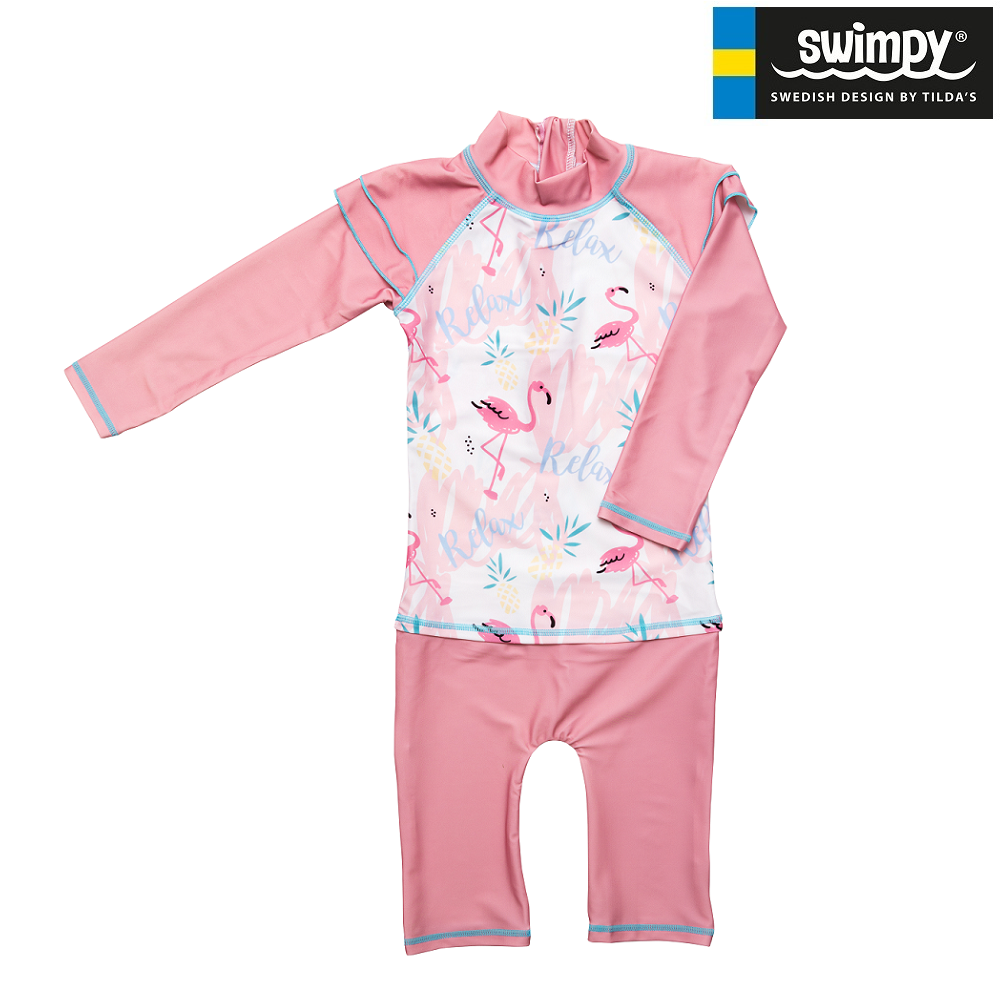 UV-dragt Swimpy Flamingo lyserød
