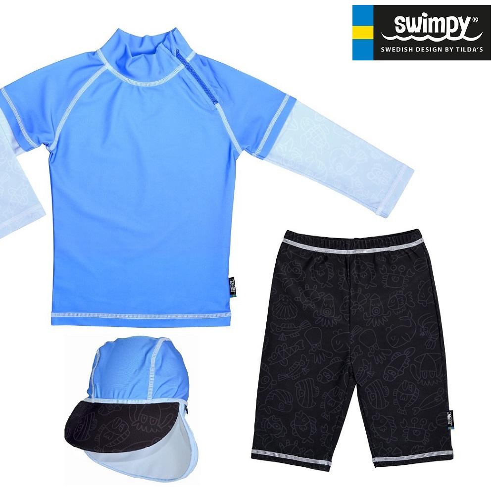 Swimpy UV børnebadetøj UV-Sæt Blue Ocean