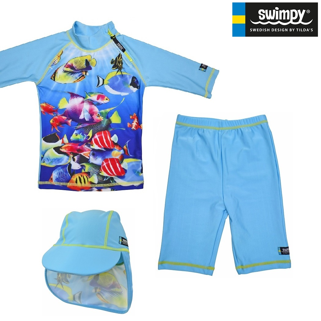 Swimpy UV børnebadetøj UV-Sæt Tropical Fish