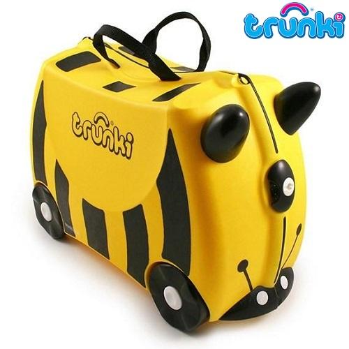 Kuffert til børn Trunki Bee Bernard gul
