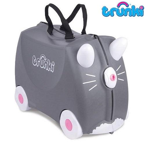 Kuffert til børn Trunki Benny Cat grå