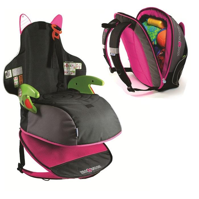 Trunki BoostApak autostol og rygsæk i ét lyserød