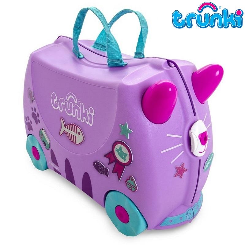 Kuffert til børn Trunki Cassie Cat lilla