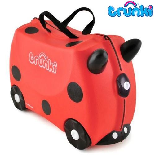Kuffert til børn Trunki Harley Ladybug rød