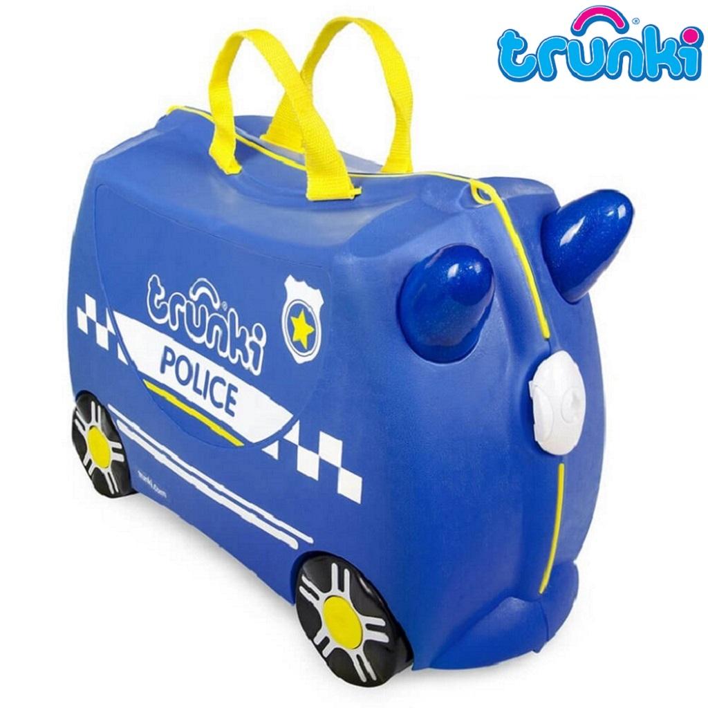Kuffert til børn Trunki Percy Police blå