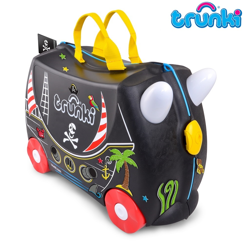 Kuffert til børn Trunki Pedro Pirate Ship sort