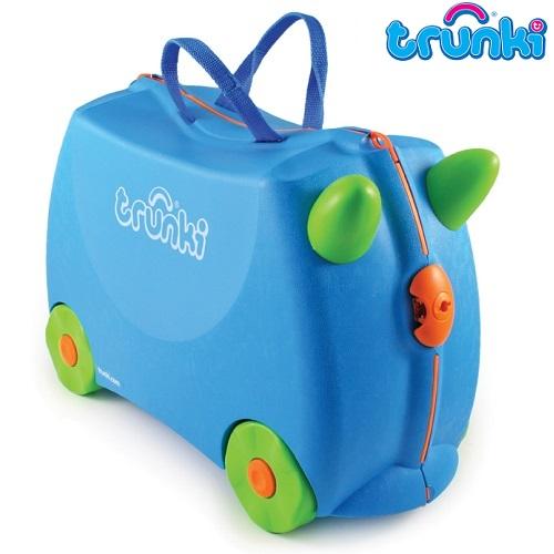 Kuffert til børn Trunki Terrance blå