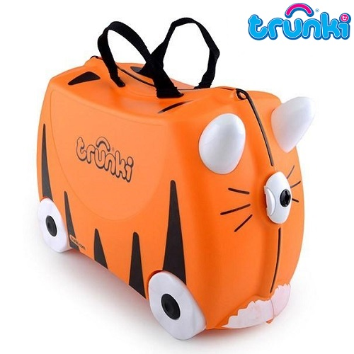Kuffert til børn Trunki Tipu Tiger orange