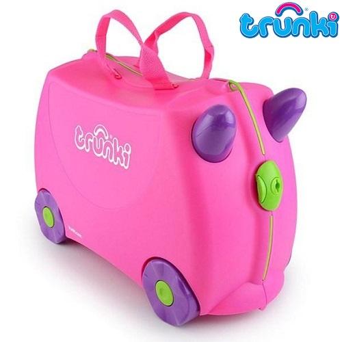 Kuffert til børn Trunki Trixie lyserød