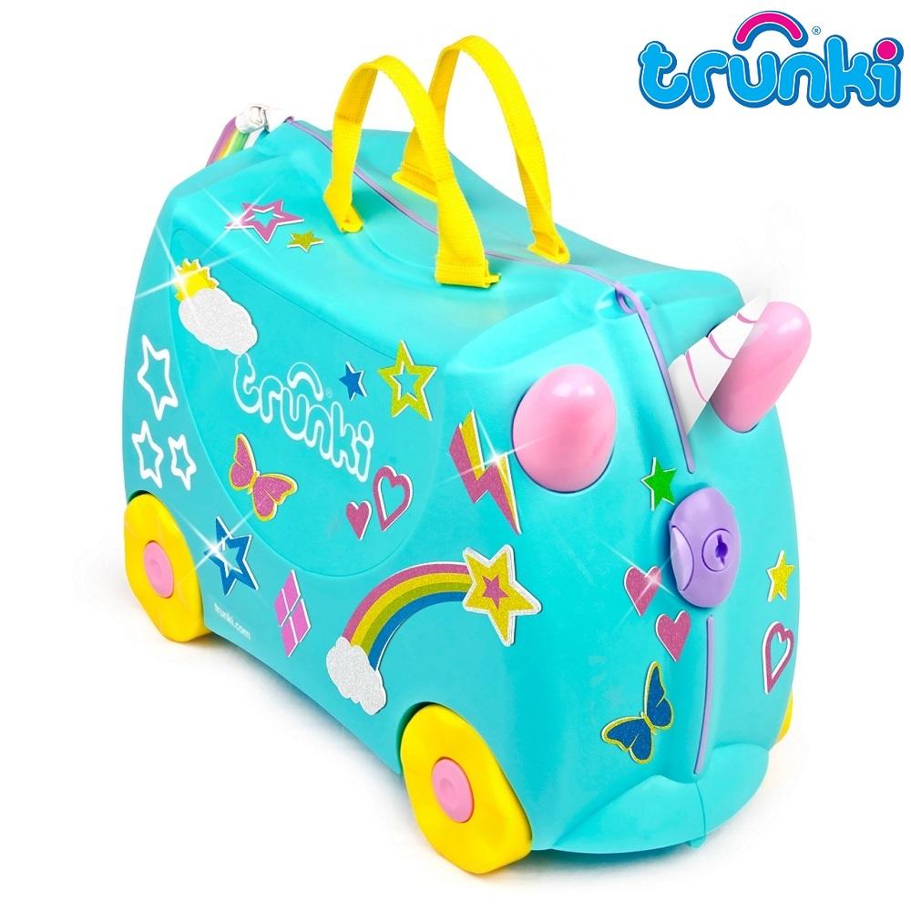 Kuffert til børn Trunki Usna Unicorn turkis