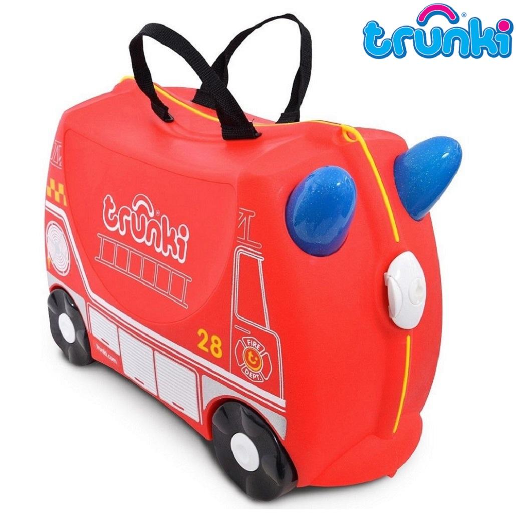Kuffert til børn Trunki Fire Engine Frank rød