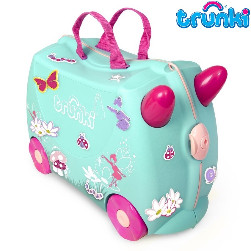 Kuffert til børn Trunki Flora the Fairy turkis
