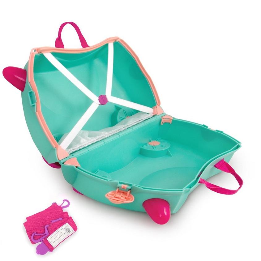 Kuffert til børn Trunki Flora the Fairy turkis