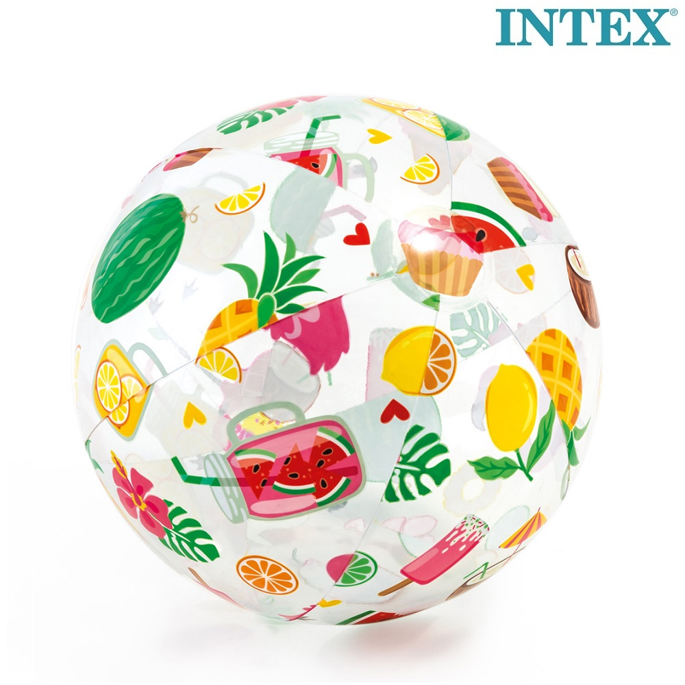 Oppustelig badebold Intex Tropical Fruit
