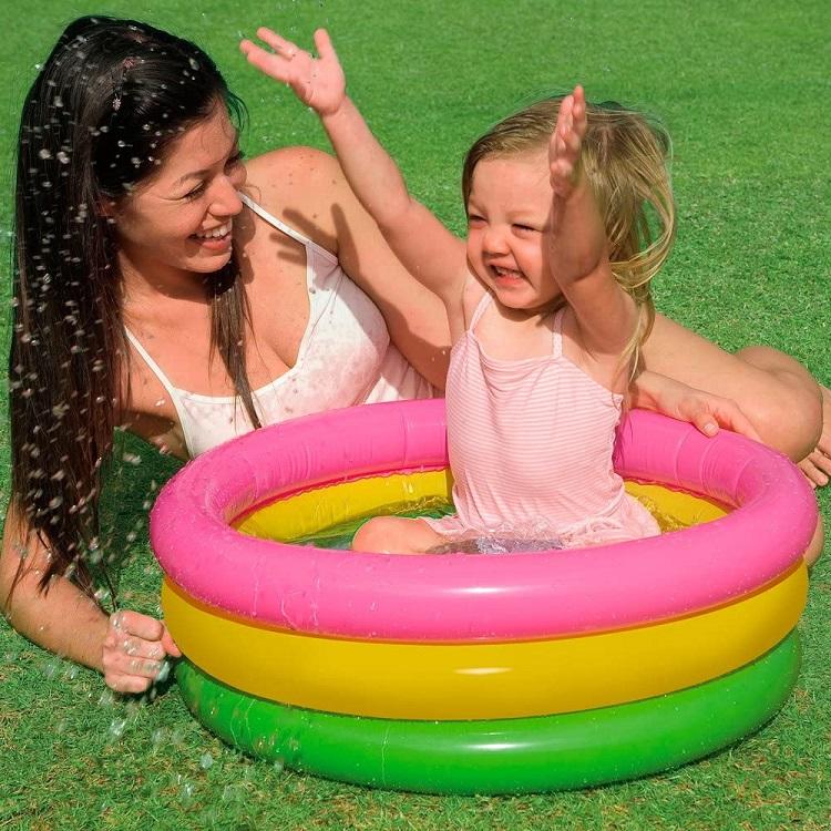 Oppustelig badebassin til børn Intex Rainbow