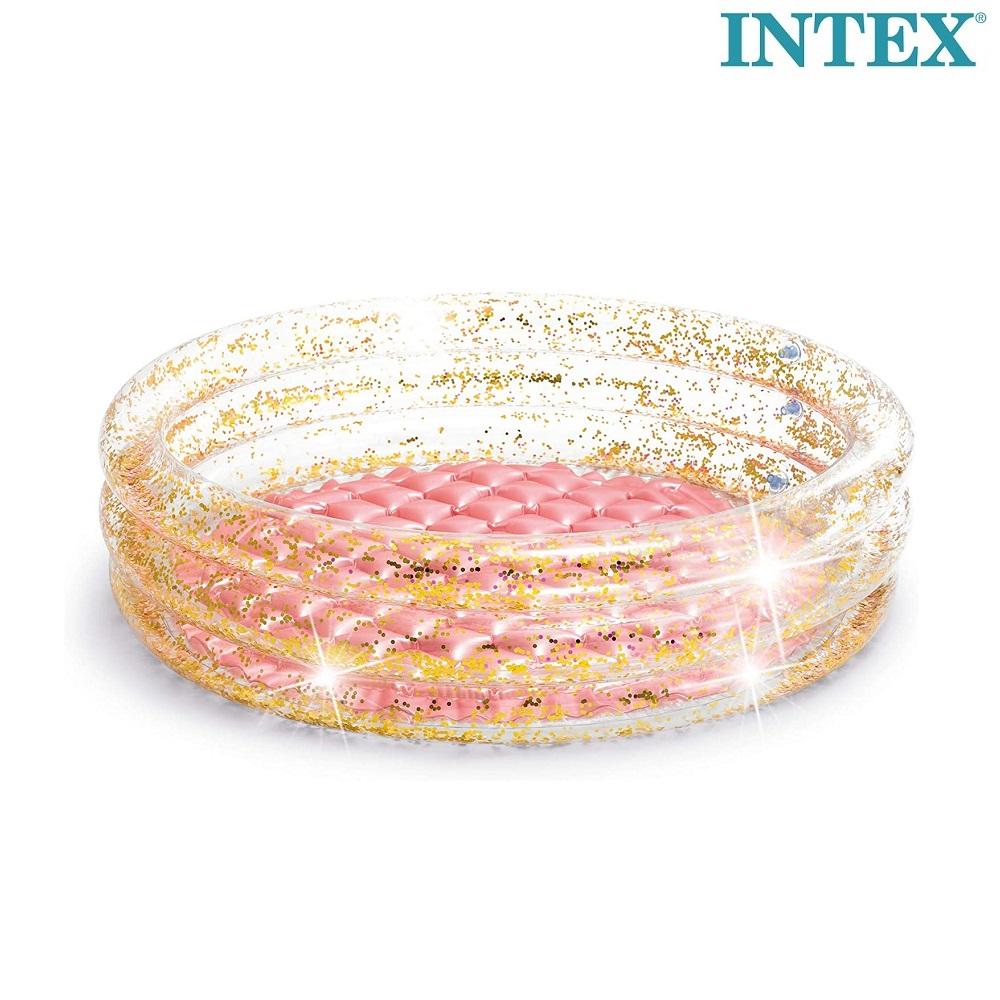 Oppustelig badebassin til børn Intex Glitter