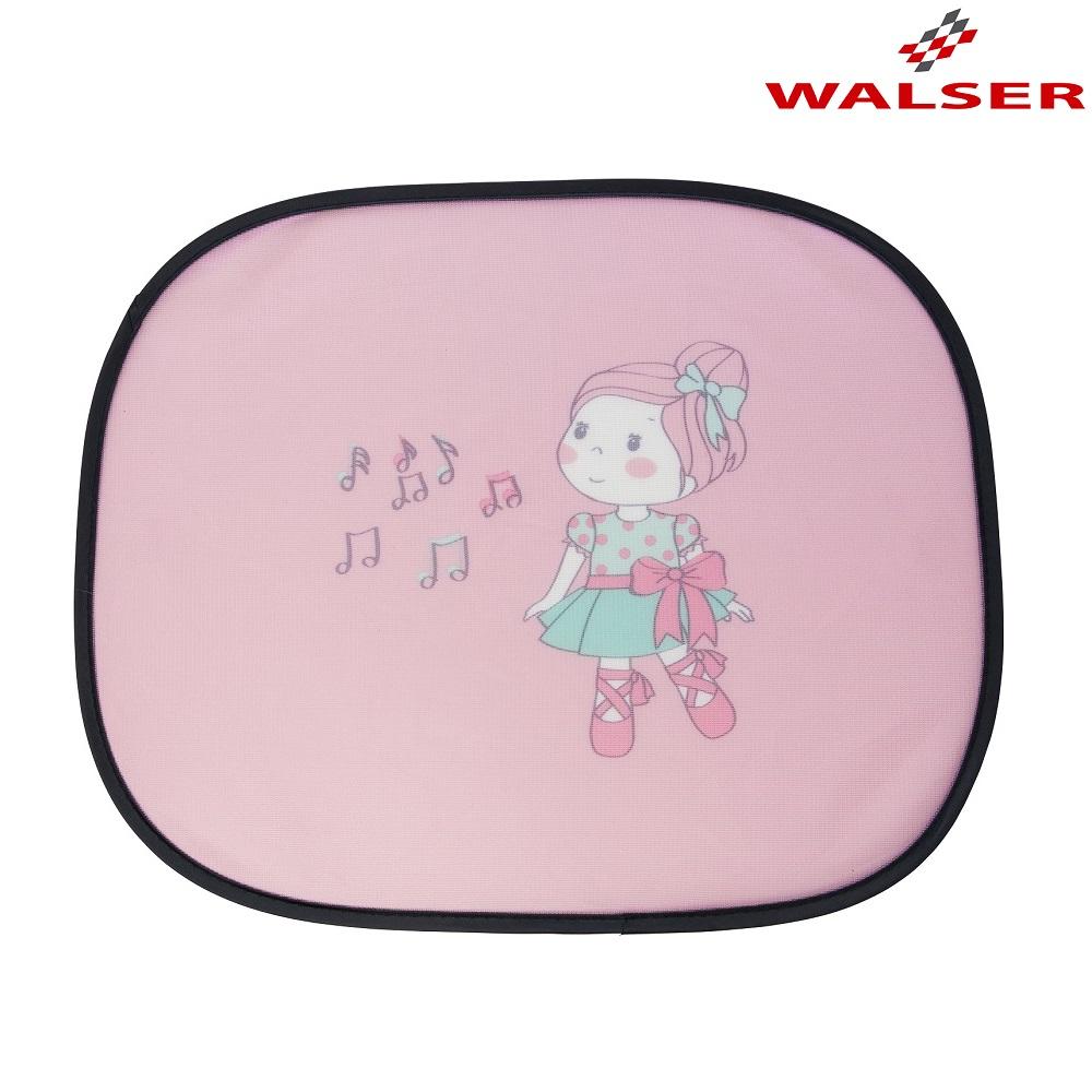 Solskærm til bil Walser Happy Ballet lyserød