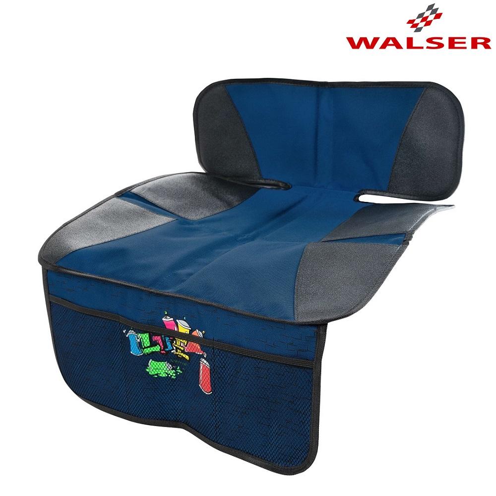 Sædebeskytter til bil Walser Graffiti blå