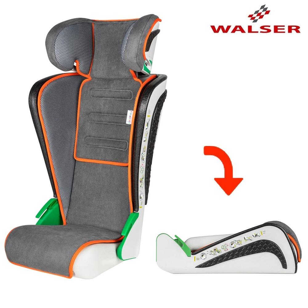 Sammenklappelig autostol Walser Noemi grå og orange
