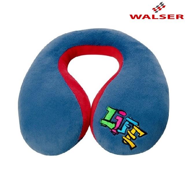 Nakkepude til børn Walser Graffiti blå