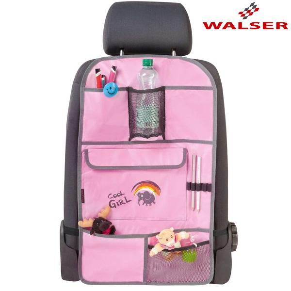 Bagsæde Organizer og ryglænslomme Walser Cool Girl lyserød